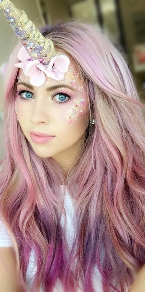 another colorful and popular halloween costume the mermaid to get this look you will first add the pastel colors to your hair then add in some long